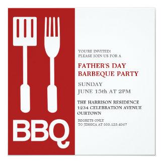 Fun Father's Day BBQ Party Invitations