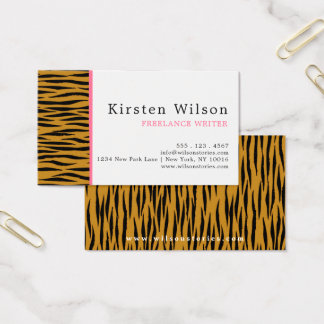 Fun Faux Tigerprint Business Card