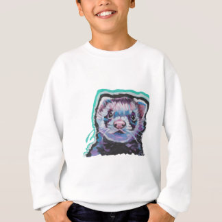 Fun FERRET  bright colorful Pop Art Sweatshirt