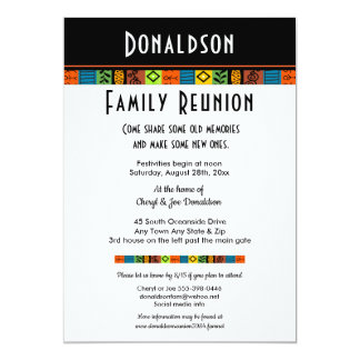 Fun Festive Family Reunion or Party Invitation