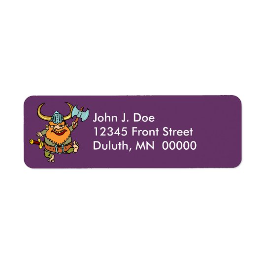 Fun & Festive Happy Viking Return Address Label