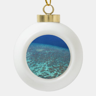 Fun Festive Maldives Ocean Reefs Custom Ceramic Ball Ornament
