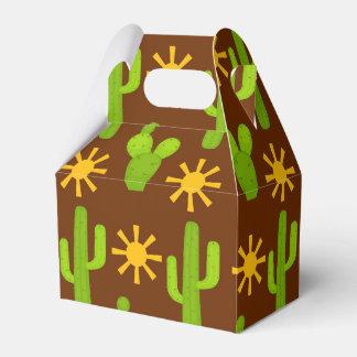 Fun Fiesta cactus pattern party favor box