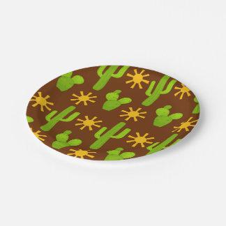 Fun Fiesta cactus pattern party paper plate