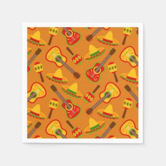 Fun Fiesta party pattern paper napkins