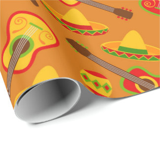 Fun Fiesta pattern pattern party wrap tiled Wrapping Paper