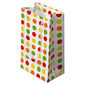 Fun Fiesta polka dot pattern gift bag