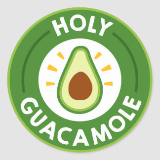 Fun Fiesta word art guacamole party sticker
