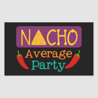Fun Fiesta word art party sticker Nacho