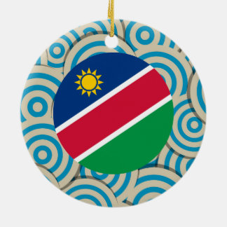 Fun Filled, Round flag of Namibia Ceramic Ornament