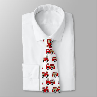 Fun fire truck pattern work tie