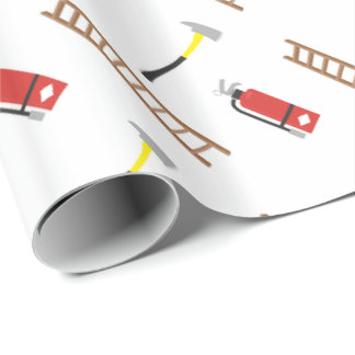 Fun Fireman Things wrapping paper