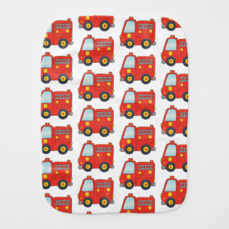 Fun Firetruck Pattern Design Burp Cloth