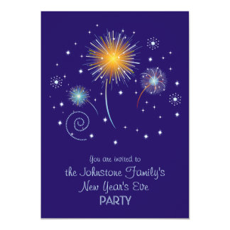 Fun Fireworks New Year's Eve Party Invitations