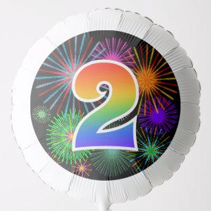 Fun Fireworks Rainbow Pattern 2 Event Balloon