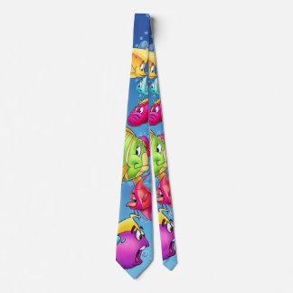 fun fish cartoon tie