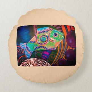 Fun fish pillow. round pillow