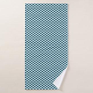 Fun fish scale blue graphic pattern bath towel