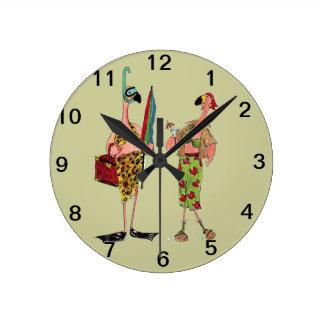 Fun Flamingo Wall Clock