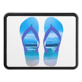 Fun Flip Flops Summer Beach Art for Vacation Trailer Hitch Cover
