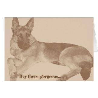 Fun & Flirty German Shepherd Valentine's Day Card