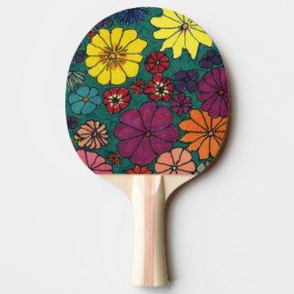 """Fun Floral #1"" Ping Pong Paddle"