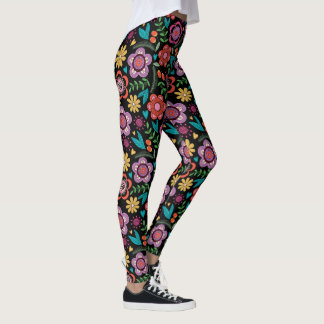 Fun Floral  Pop Fashion Leggings