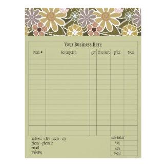 Fun Florals Order Form Flyers