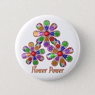 Fun Flower Power 2 Inch Round Button