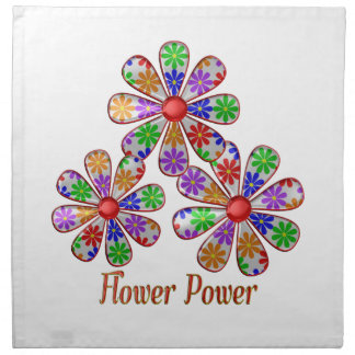 Fun Flower Power Napkin