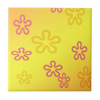 Fun Flowers Ceramic Tile