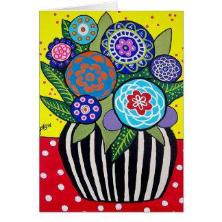 Fun Flowers Greeting Card