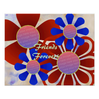 Fun Flowers Photo Frame Print