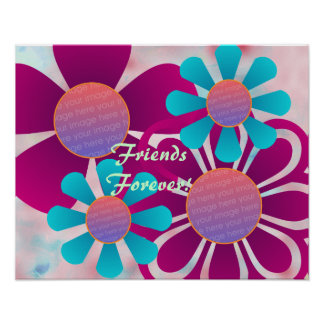 Fun Flowers Photo Frame Print