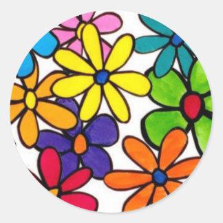 fun flowers sticker