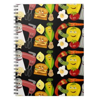 Fun Food Collage Notebooks