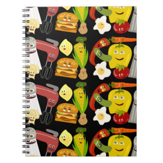 Fun Food Collage Spiral Note Book