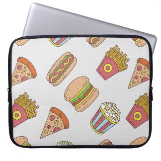 Fun Food Pattern Computer Sleeves
