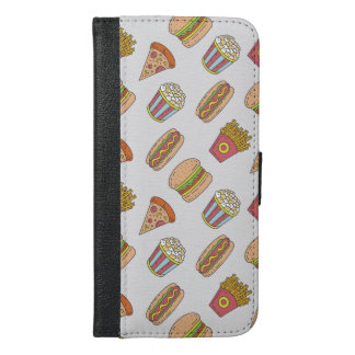 Fun Food Pattern iPhone 6/6s Plus Wallet Case