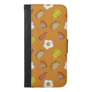 Fun Food Pattern iPhone 6/6s Plus Wallet Case