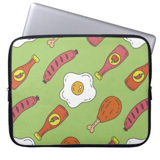 Fun Food Pattern Laptop Computer Sleeve