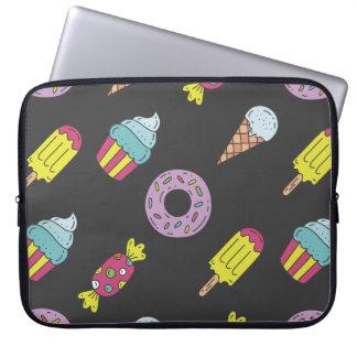 Fun Food Pattern Laptop Sleeve