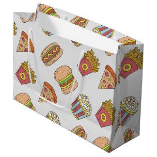 Fun Food Pattern Large Gift Bag