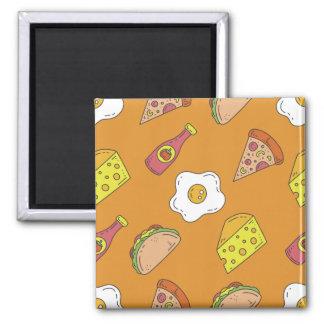 Fun Food Pattern Magnet