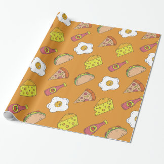 Fun Food Pattern Wrapping Paper