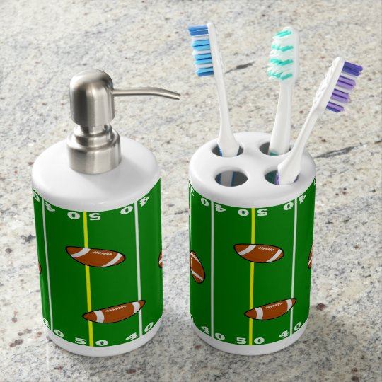 Fun Football Field and Footballs Soap Dispensers