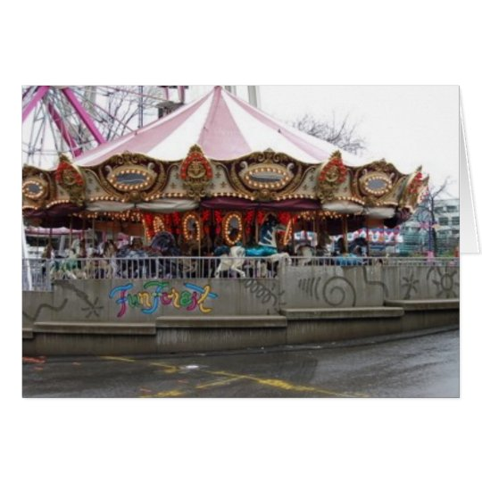 fun forest carousel card