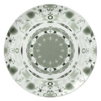 Fun Fractal Blank Background Party Plate