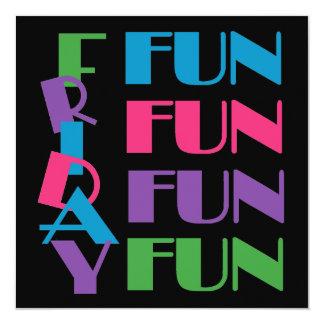 Fun Friday Sleepover or Slumber Teen Birthday Card