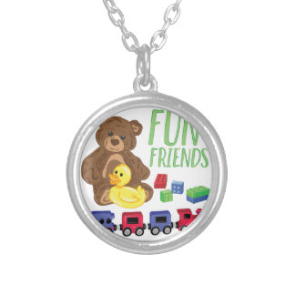 Fun Friends Silver Plated Necklace